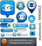 eye web blue buttons for... | Shutterstock .eps vector #98408813