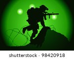 Us Soldier Used Night Vision...