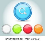 vector glossy round search icon ...