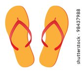 Pair Of Flip Flops Isolated On...