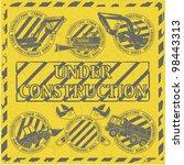 set under construction stamp | Shutterstock .eps vector #98443313