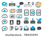 modern communication icons ... | Shutterstock .eps vector #98443394