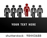 unique concept. loving man in... | Shutterstock .eps vector #98443688