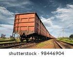 cargo railway coach | Shutterstock . vector #98446904