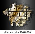 marketing words | Shutterstock .eps vector #98448608