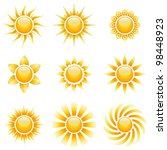 yellow sun vector icons... | Shutterstock .eps vector #98448923