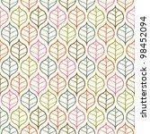 color leaf pattern | Shutterstock . vector #98452094
