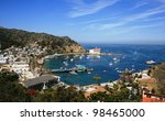 view from above of the bay and... | Shutterstock . vector #98465000