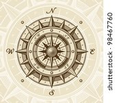 vintage compass. vector | Shutterstock .eps vector #98467760