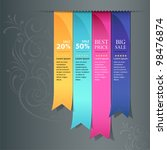 colorful ribbon promotional... | Shutterstock .eps vector #98476874