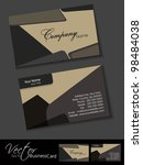 professional business card set  ... | Shutterstock .eps vector #98484038