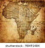 vintage map africa    mapmaker  ... | Shutterstock . vector #98491484