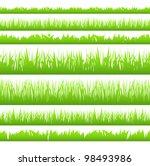 silhouette of seamless grass ... | Shutterstock .eps vector #98493986