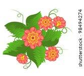 red flowers | Shutterstock .eps vector #98494274