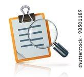 vector illustration of search...   Shutterstock .eps vector #98501189