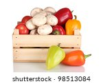 Fresh Vegetables In Wooden Box...