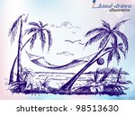 summer holiday tropical island  ... | Shutterstock .eps vector #98513630