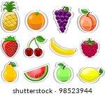 cartoon fruits   Shutterstock .eps vector #98523944