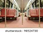 Interior Of Subway Train Car I...