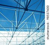 futuristic architecture inside...   Shutterstock . vector #98537600