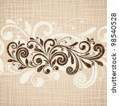 background with floral pattern | Shutterstock .eps vector #98540528