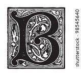 initial   letter b   vintage...