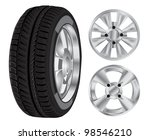 tire and rim set | Shutterstock .eps vector #98546210
