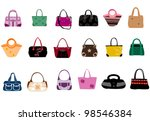 fashion bags | Shutterstock .eps vector #98546384
