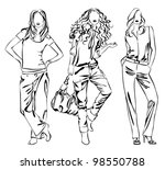 a lot of vector black... | Shutterstock .eps vector #98550788