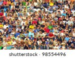 blurred crowd of spectators on... | Shutterstock . vector #98554496