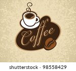 banner with inscription coffee  ... | Shutterstock .eps vector #98558429
