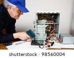 electrician | Shutterstock . vector #98560004