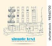 vector illustration of house...   Shutterstock .eps vector #98560700