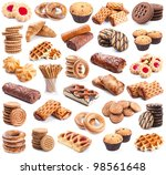 Pastry Collection Isolated On...