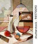 Abstract Oil Painting Of Still...