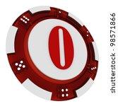 poker chip font. 3d rendered... | Shutterstock . vector #98571866