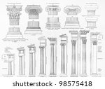 vintage drawing representing... | Shutterstock . vector #98575418