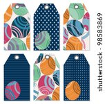 easter tags with different... | Shutterstock .eps vector #98583869