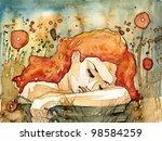 Watercolor Illustration ...