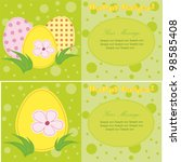 a set of colorful vector easter
