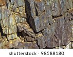 A Colorful Rock Face With...