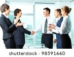 image of successful co workers... | Shutterstock . vector #98591660