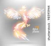 Beautiful Digital Neon Phoenix...