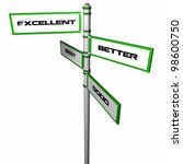 directional sign with... | Shutterstock . vector #98600750