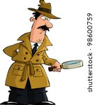 the detective looked through a...   Shutterstock .eps vector #98600759
