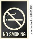 no smoking sign | Shutterstock . vector #98605430