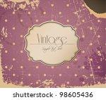 pink vector grunge retro... | Shutterstock .eps vector #98605436