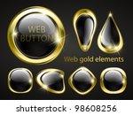 golden shiny modern elements.... | Shutterstock .eps vector #98608256