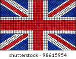 a union jack flag made from... | Shutterstock .eps vector #98615954