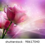 roses art design. invitation...   Shutterstock . vector #98617040